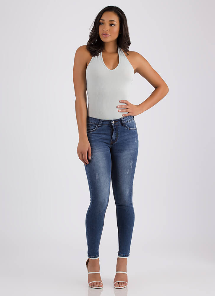 Snag 'Em While You Can Skinny Jeans BLUE