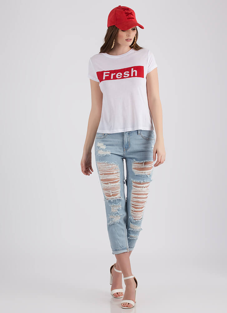 Don't Get Fresh With Me Graphic Tee WHITE