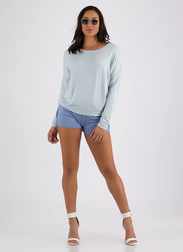 Don't Even Sweat It Long-Sleeved Top BLUE