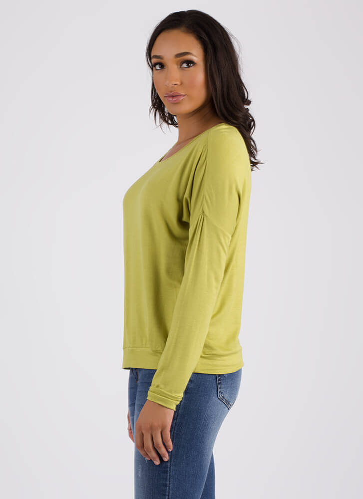 Don't Even Sweat It Long-Sleeved Top MOSS