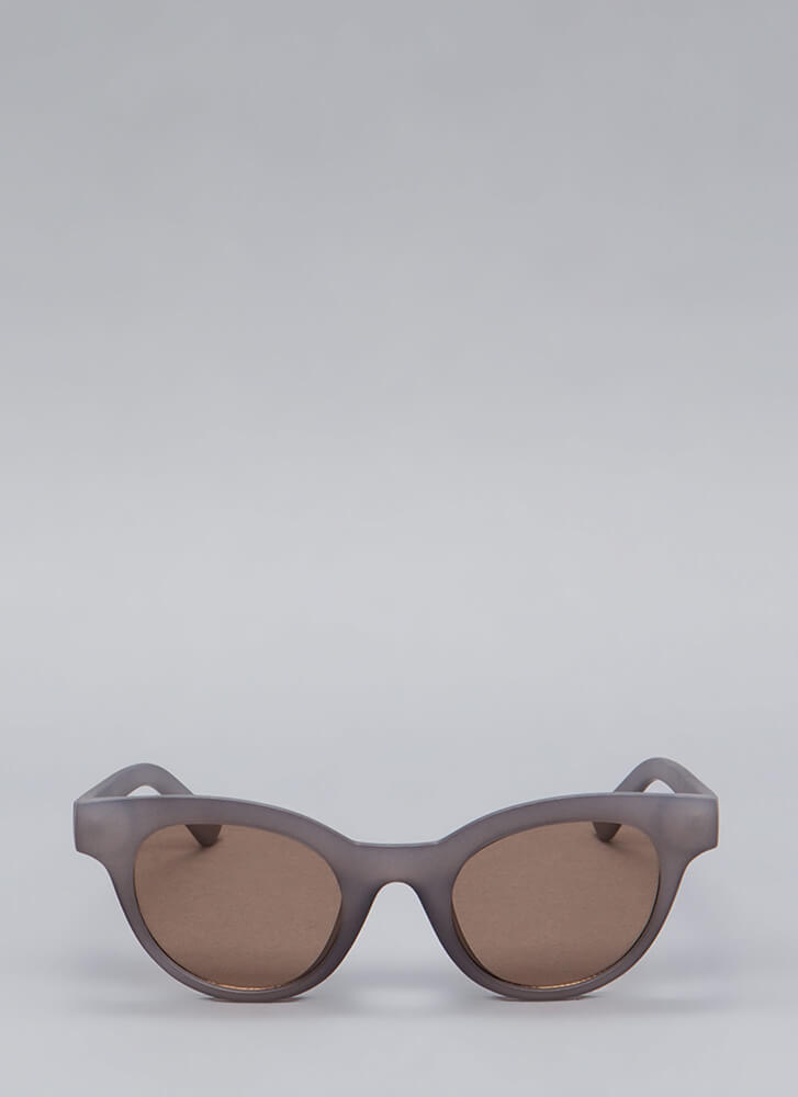 Sunday Shades Thick-Rim Sunglasses GREY
