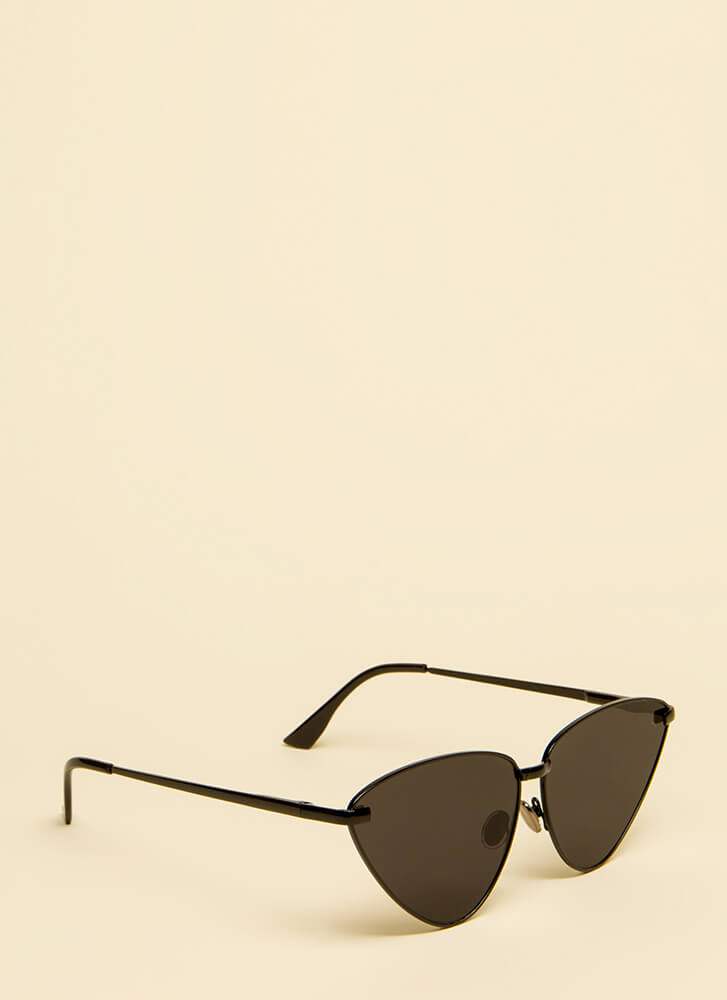 Flare For Fashion Oversized Sunglasses BLACKBLACK