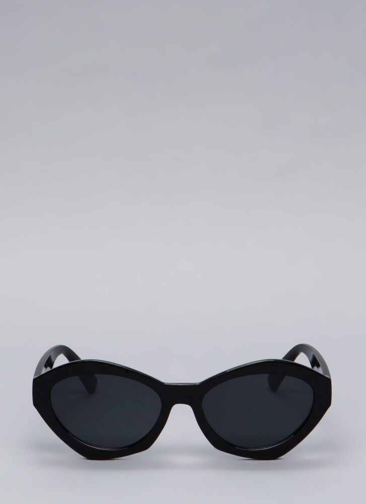 Different Sides Thick-Rim Sunglasses BLACK