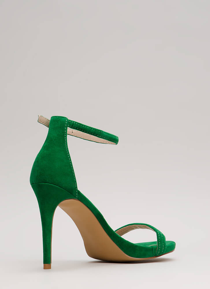 Out Tonight Velvet Ankle Strap Heels JADE