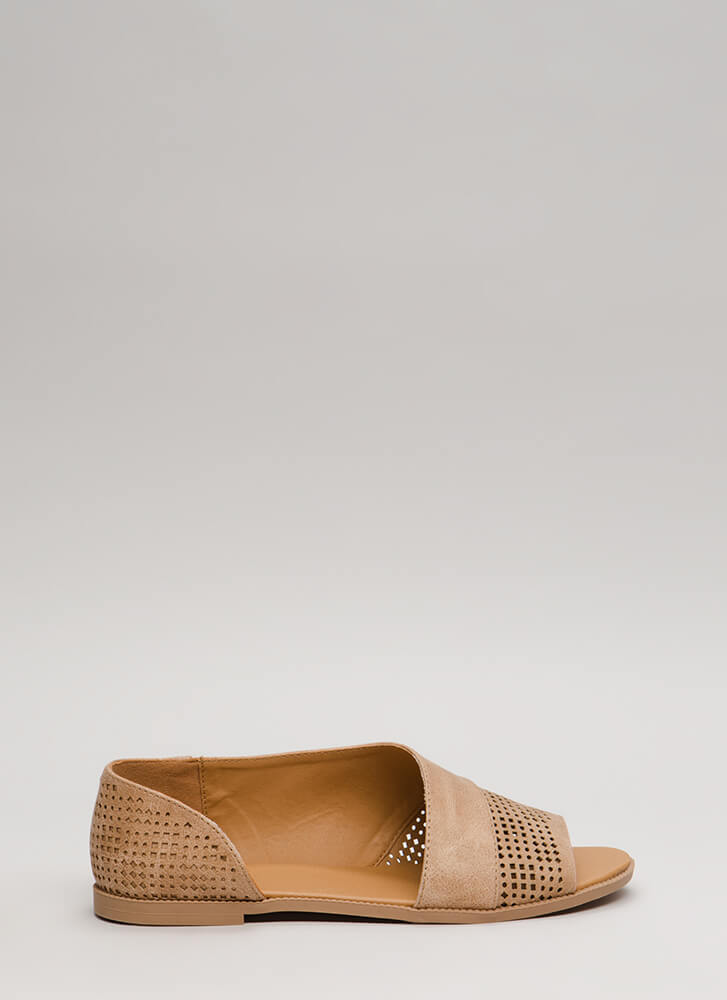 Open Up Asymmetrical Perforated Flats TAN