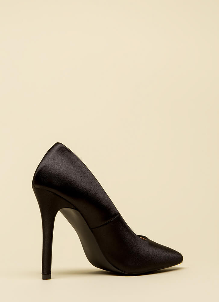 Just Get To The Point Lycra Pumps BLACK