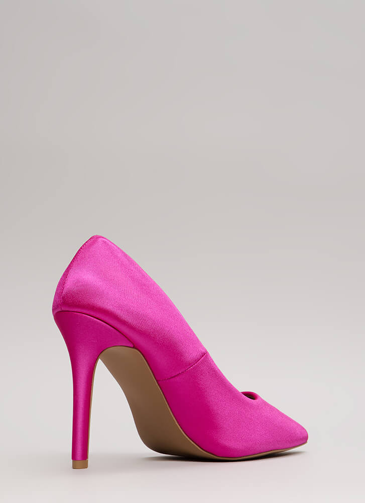 Just Get To The Point Lycra Pumps FUCHSIA