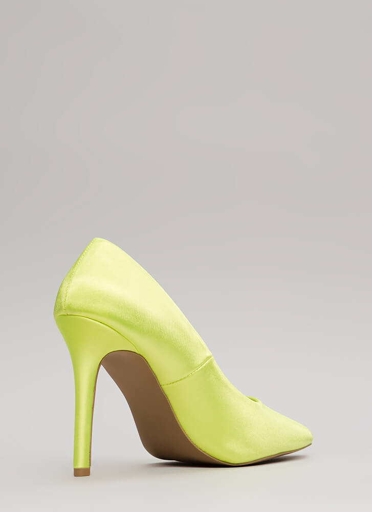 Just Get To The Point Lycra Pumps NEONYELLOW