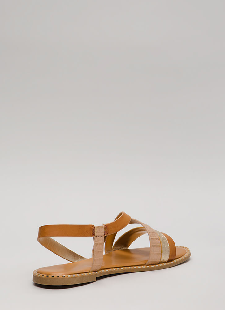 All In The Details Strappy Sandals GOLD