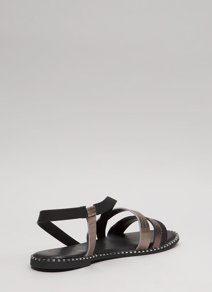 All In The Details Strappy Sandals PEWTER