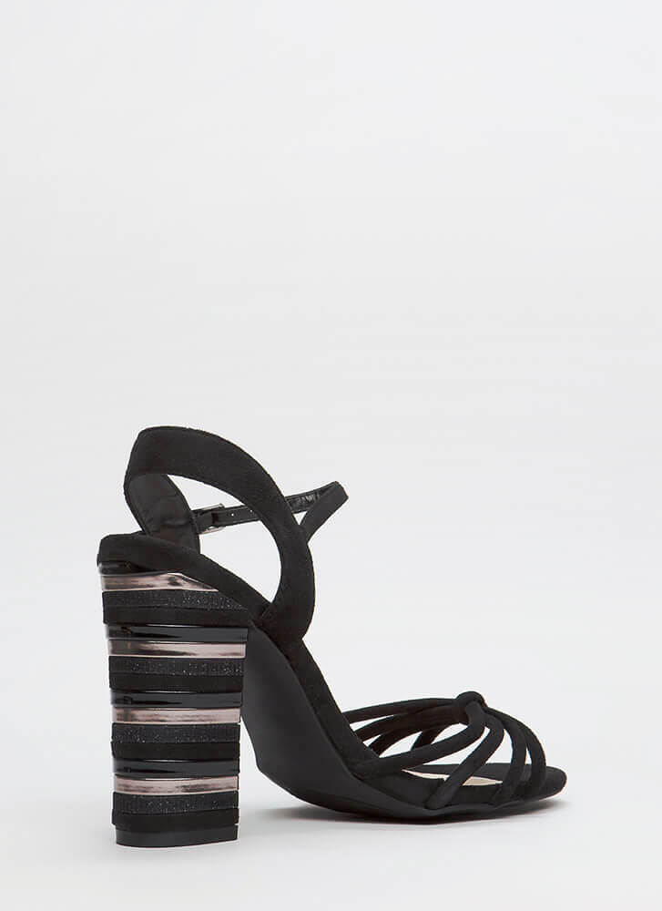 Chance Encounter Chunky Stacked Heels BLACK