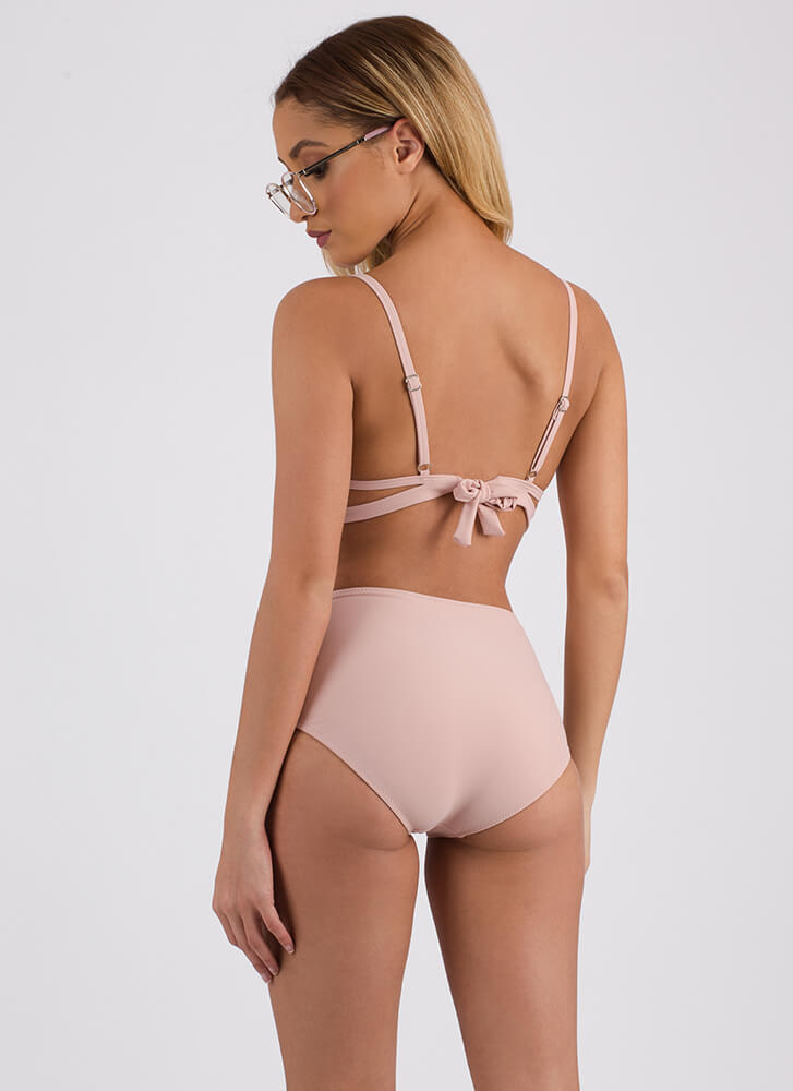 Strappy Ever After Caged Bikini Set BLUSH (Final Sale)