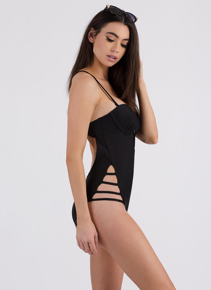 Strappy To See You One-Piece Swimsuit BLACK (Final Sale)