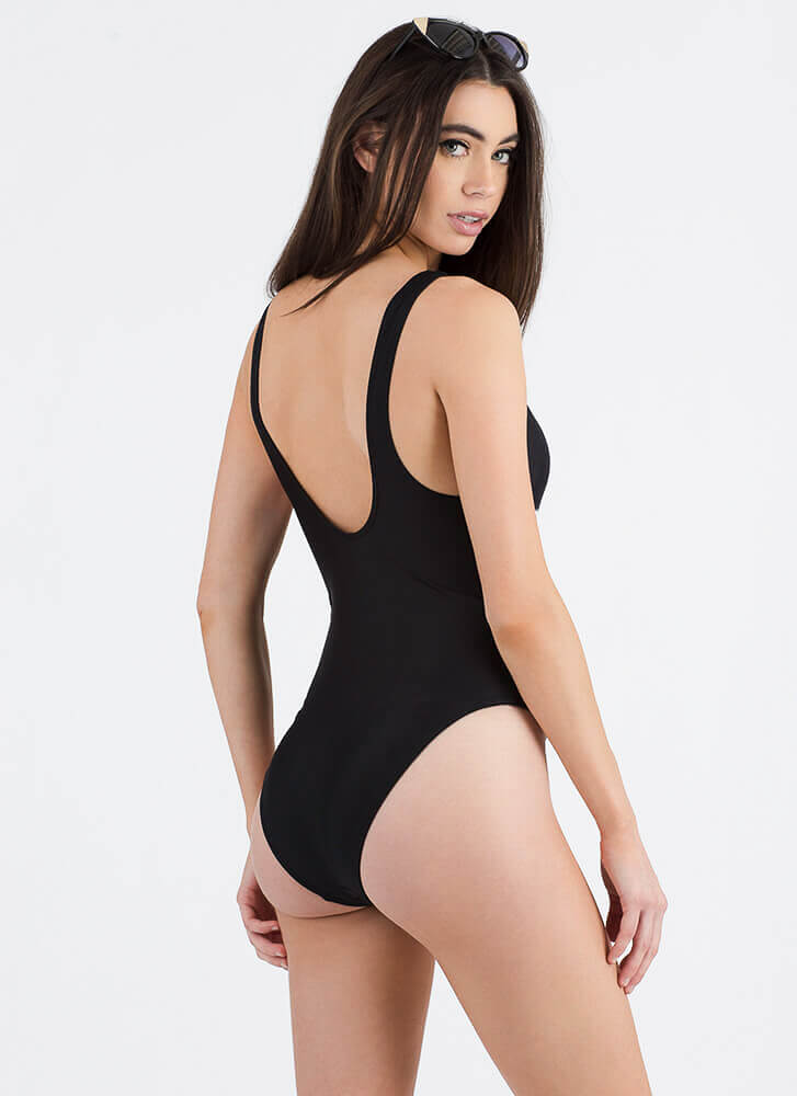 The Single Life One-Piece Bathing Suit BLACK (Final Sale)