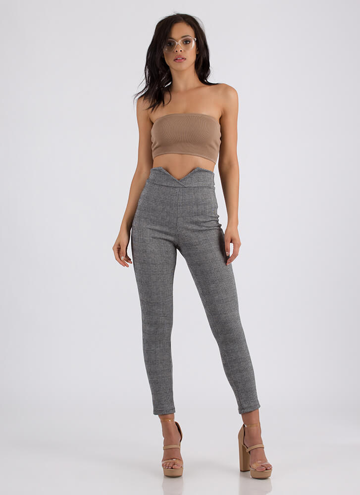 You're So Busted Rib Knit Bandeau TAUPE