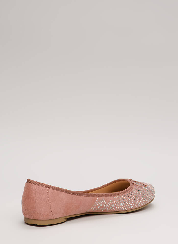 Twinkle Bows Jeweled Ballet Flats DKMAUVE