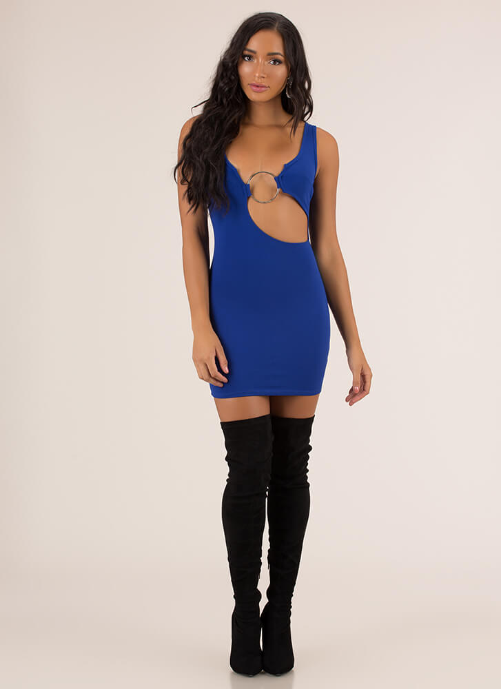 Ring In The New Cut-Out Minidress ROYAL