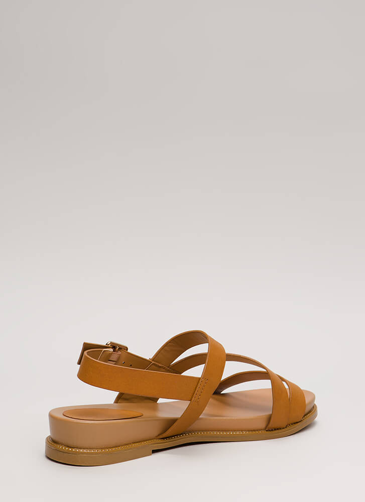 Supreme Style Studded Trim Sandals TAN