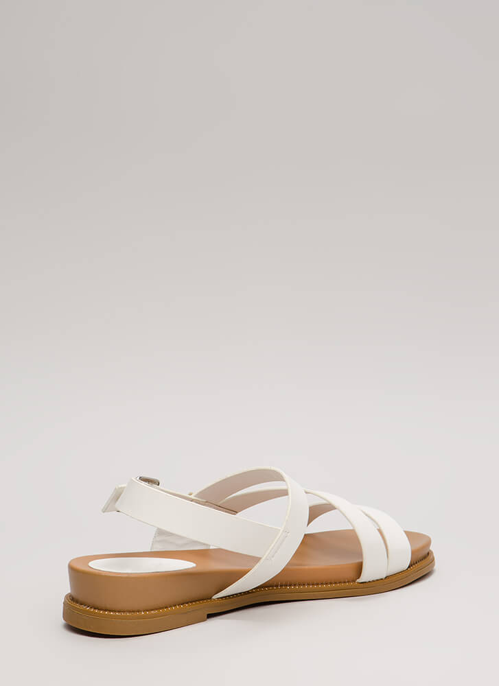 Supreme Style Studded Trim Sandals WHITE