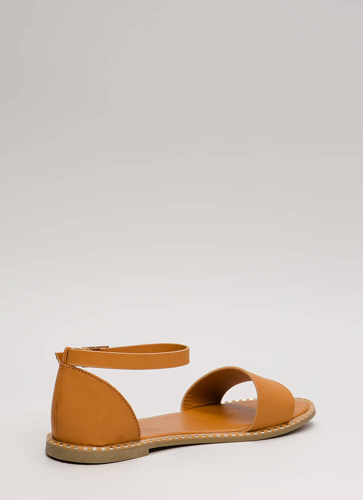 Maximum Style Strappy Trimmed Sandals TAN