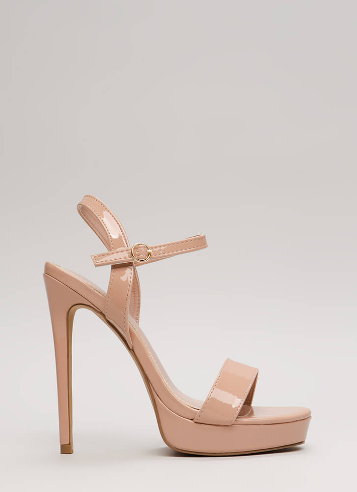 Back To Cali Faux Leather Platforms TAUPE