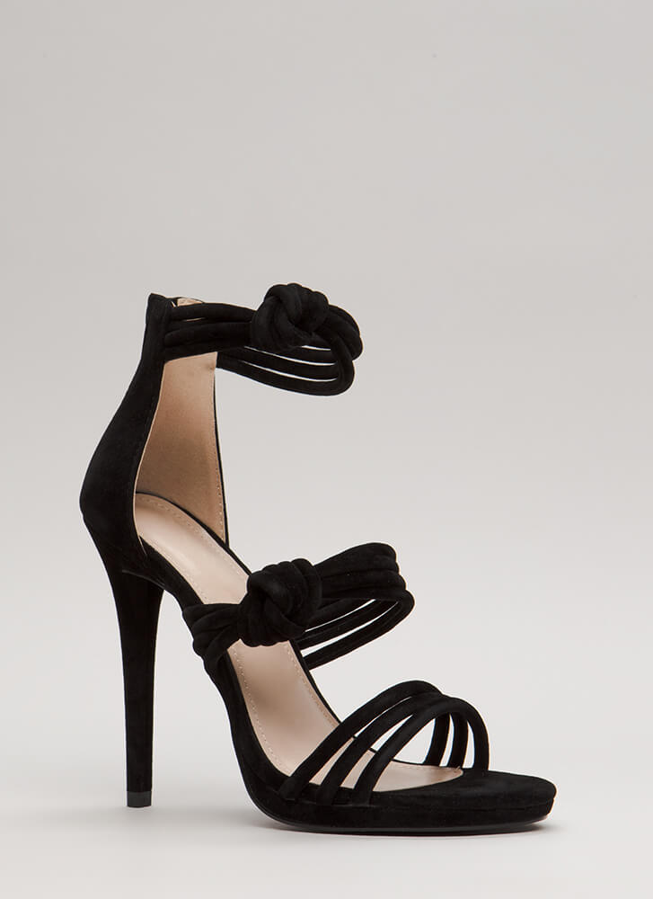 Knot Your Mama's Strappy Heels BLACK (Final Sale)