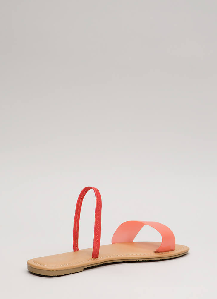 I'm Ready Clear Slingback Sandals NEONPINK (Final Sale)