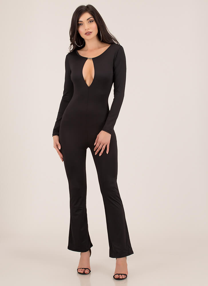 Treasure Chest Flared Jumpsuit BLACK