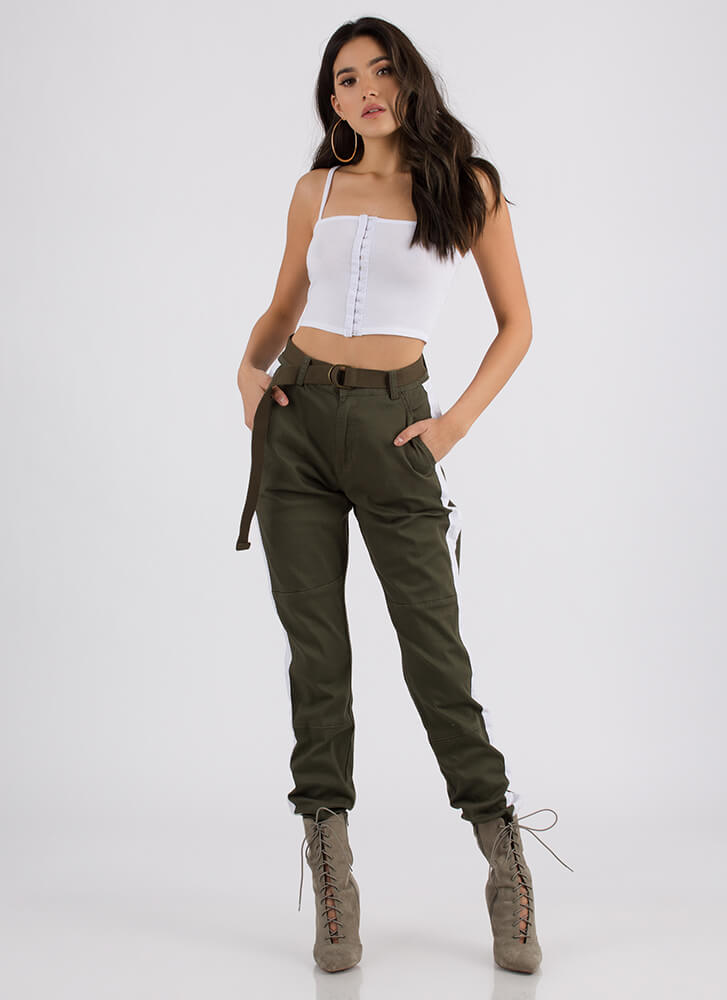 Totally Hooked Cropped Tank Top WHITE