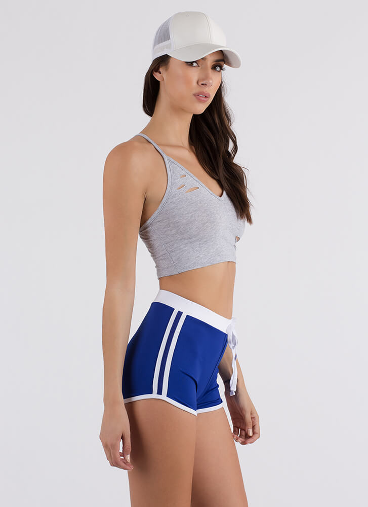 Slits Really Happening Cropped Tank Top HGREY