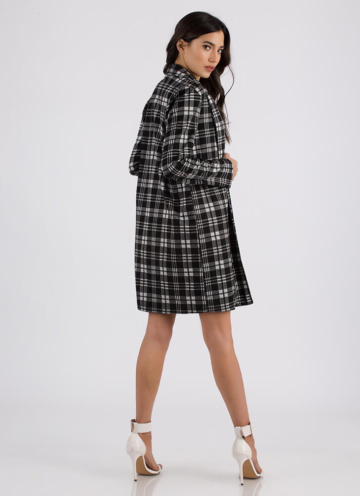 Plaid Vibes Only Blazer Jacket BLACKIVORY