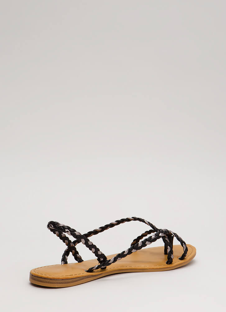 Pure Happiness Braided Slingback Sandals BLACKPEWTER (Final Sale)
