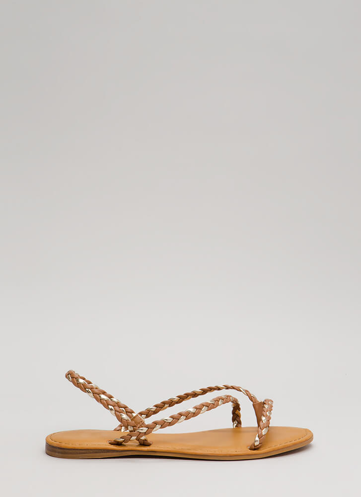 Pure Happiness Braided Slingback Sandals TANGOLD (Final Sale)