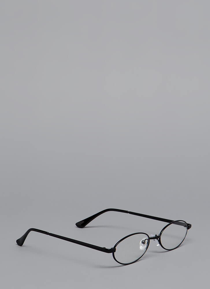 All Oval It Wire-Rim Reader Glasses BLACK (Final Sale)