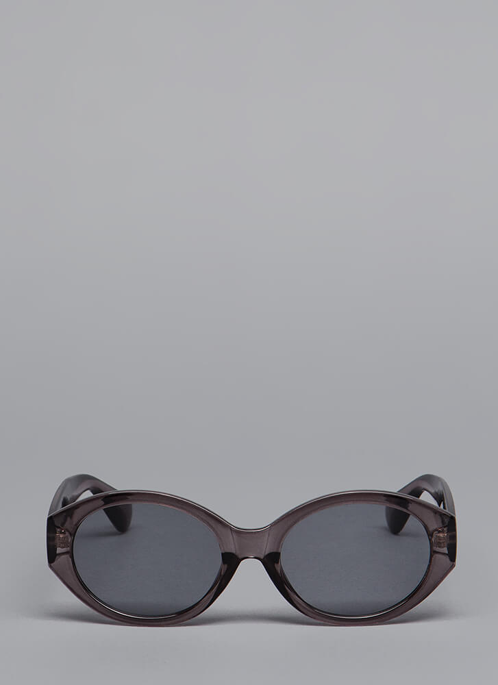 It's Becoming Clear Round Sunglasses BLACK