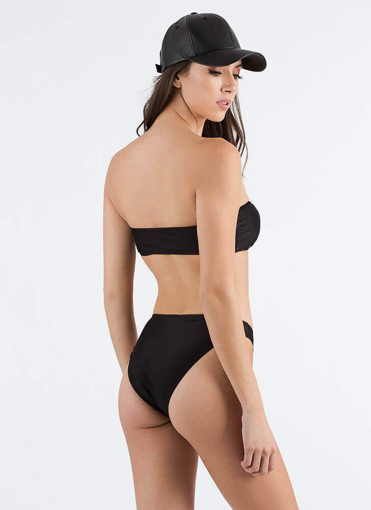 Pure And Simple Bandeau Bikini Set BLACK