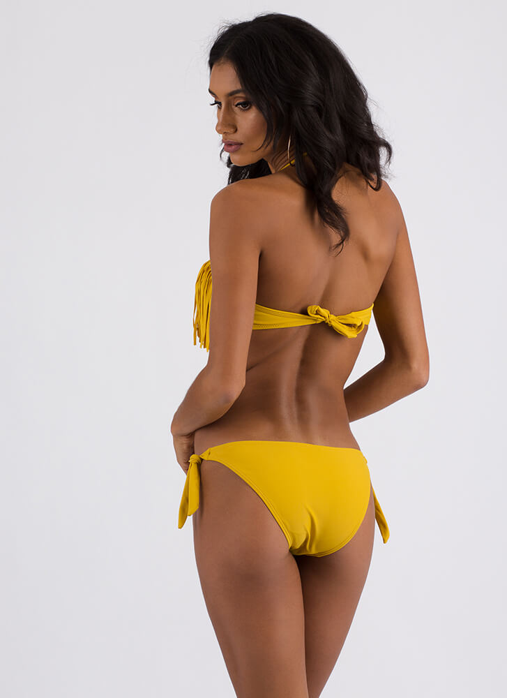 Festival Favorite Fringed Bikini Set MUSTARD (Final Sale) (You Saved $25)