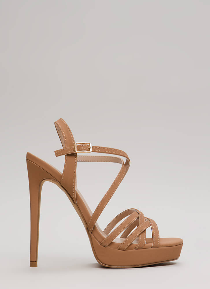 Go To Your Strappy Place Platforms TAUPE