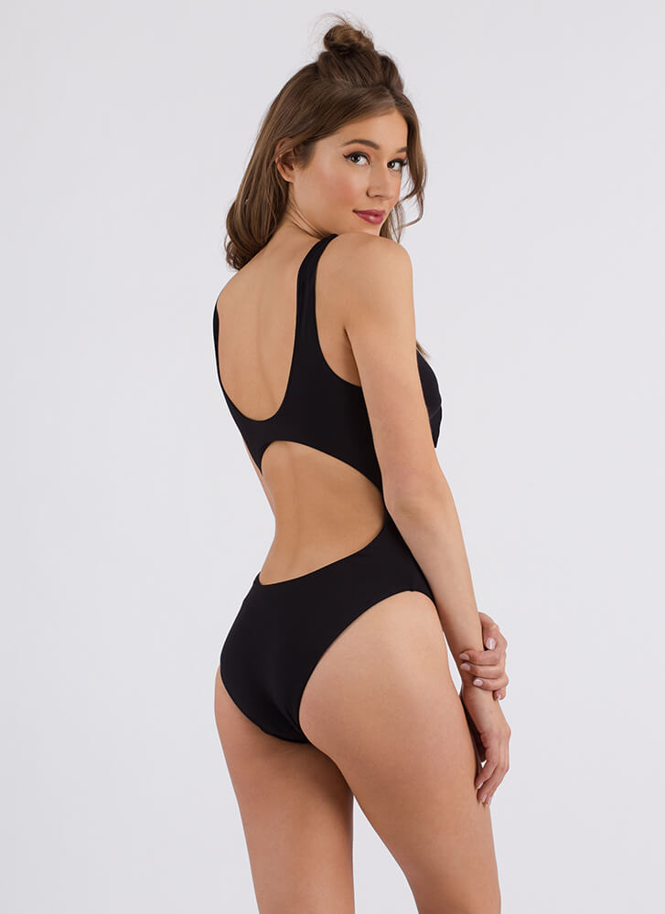 Knot Of This World Cut-Out Monokini BLACK (Final Sale)
