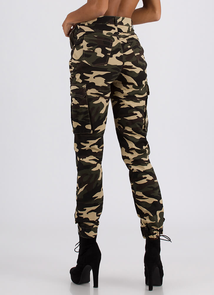 Cool In Camo High-Waisted Cargo Joggers CAMO