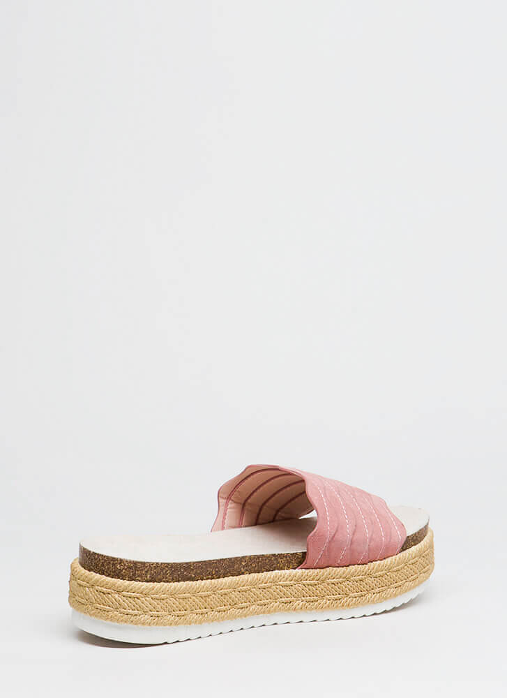 New Wave Platform Slide Sandals ASHROSE