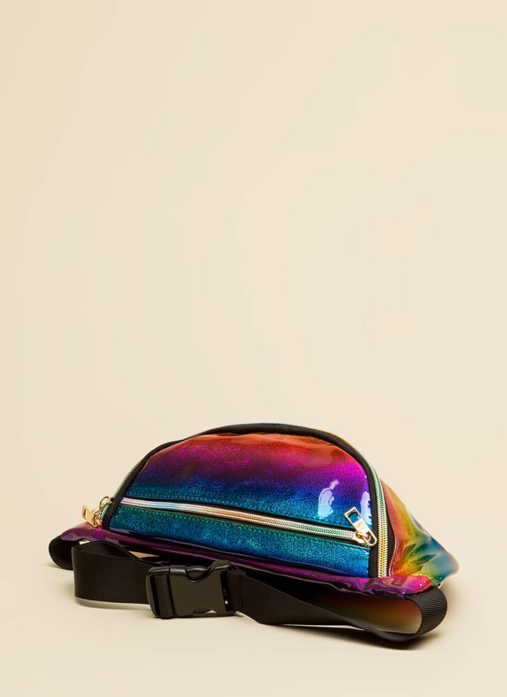 Rave Reviews Holographic Fanny Pack MULTI