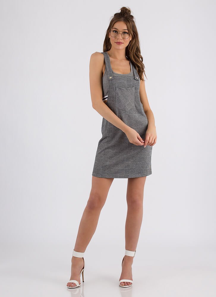 Highest Overall Score Plaid Skirtalls GREY