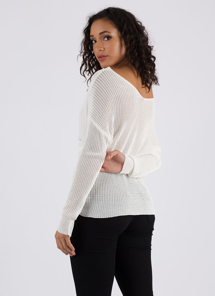 Knot Your Grandma's Knit Sweater OFFWHITE