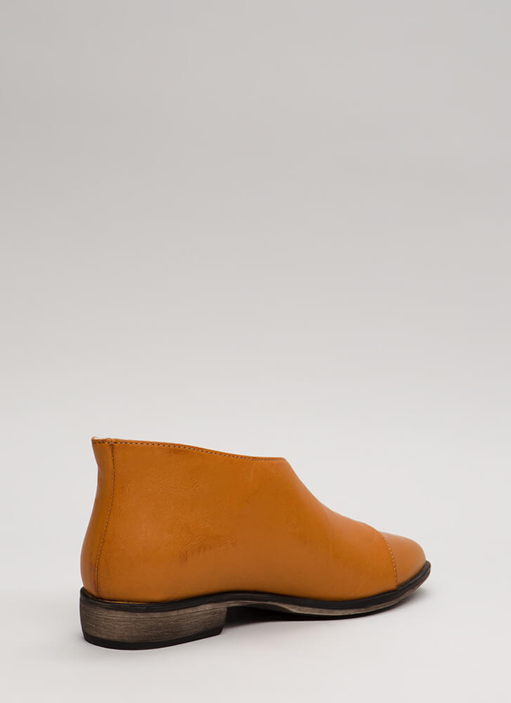 On The Side Asymmetrical Cut-Out Flats TAN