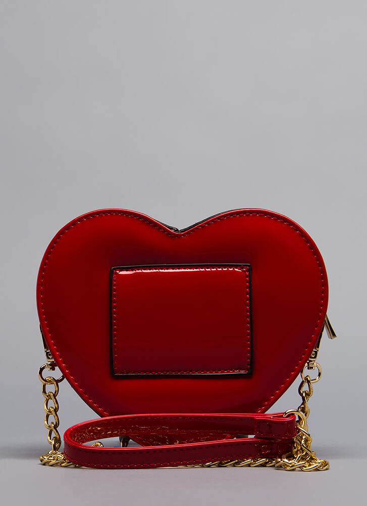 You've Stolen My Heart Clutch RED