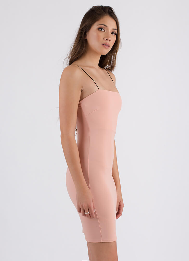 Straight Up Stunning Rib Knit Dress BLUSH (You Saved $14)