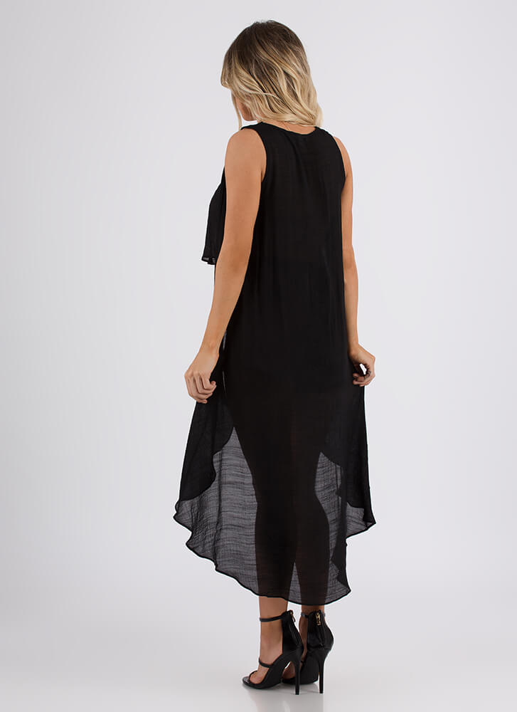 Go With The Flowy High-Low Top BLACK