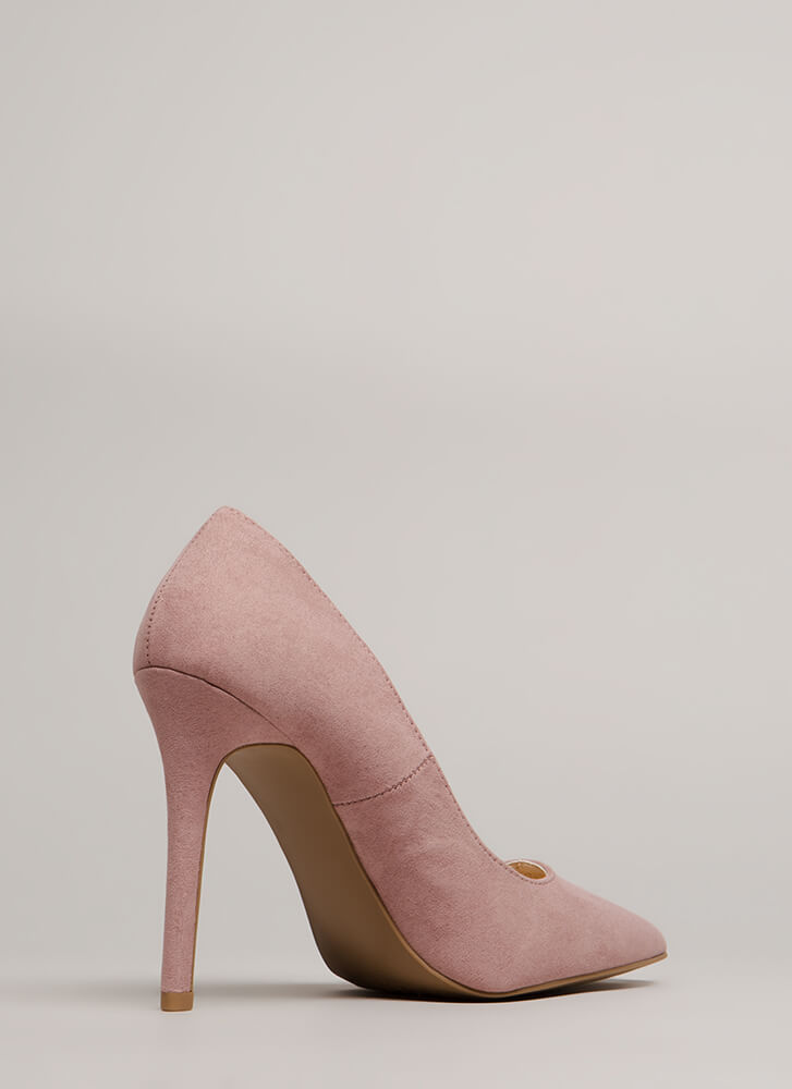 All Signs Point To Faux Suede Pumps DESERTROSE