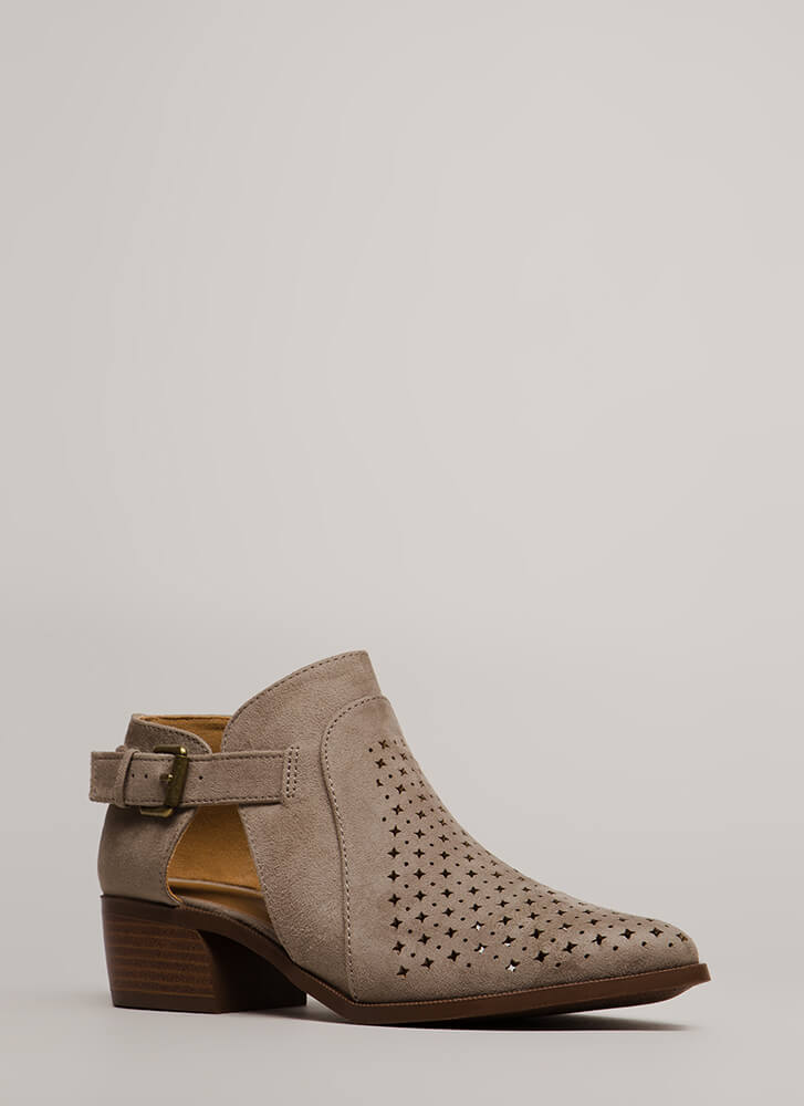Twinkle Twinkle Chunky Cut-Out Booties GREY